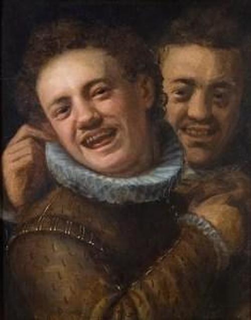 391px Hans von Aachen Two Laughing Men Self portrait 235x300 n6h3Wc